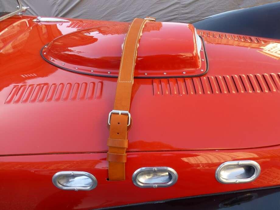 Hood of a Cadillac-Allard.