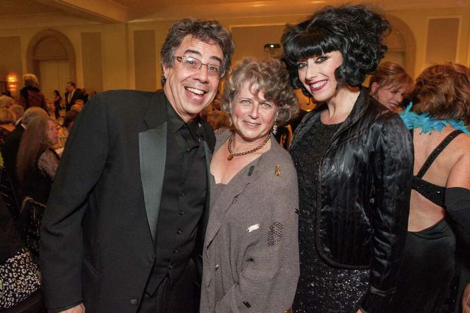 Tony Taccone, Susan Medak and Meow Meow at Berkeley Rep's Ovation Gala on April 19, 2014. Photo: Drew Altizer Photography/SFWIRE, Drew Altizer Photography / ©2014 Drew Altizer Photography