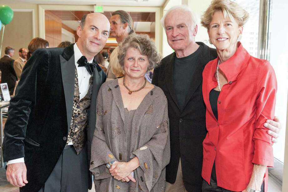 Bruce Golden, Susan Medak, Chris Curtis and Beverly Gallaway at Berkeley Rep's Ovation Gala on April 19, 2014. Photo: Drew Altizer Photography/SFWIRE, Drew Altizer Photography / ©2014 Drew Altizer Photography