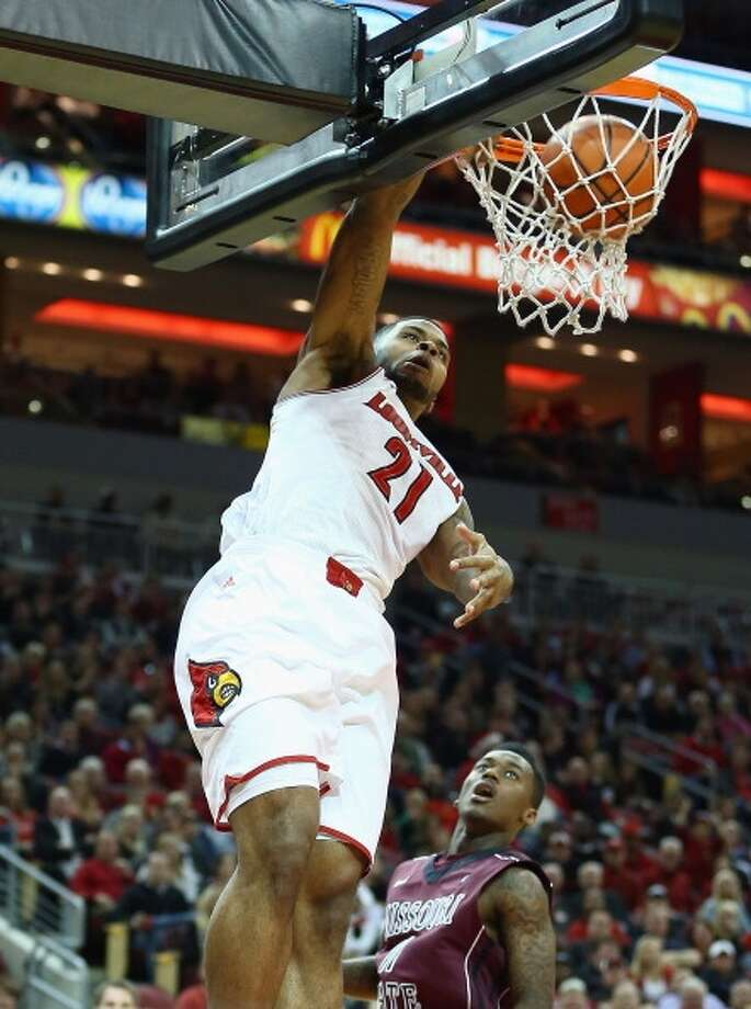 Chane Behanan  Position: Forward  Ht./Wt: 6-6/250 lbs  School: Louisville  Classification: Junior  2013-14 stats: 8 points, six rebounds, one assist, one steal per game Photo: Andy Lyons, Getty Images