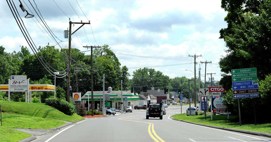 There is a gas station on every corner this area on Route 7 in Brookfield, which is part of a larger section known as the Four Corners. Photo: Carol Kaliff/file, Carol Kaliff / The News-Times