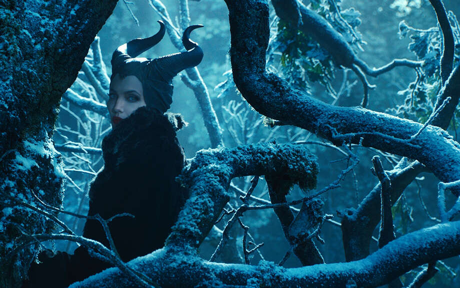 "This image released by Disney shows Angelina Jolie in a scene from ""Maleficent,"" expected for nationwide release on May 30. Photo: Associated Press / Disney"