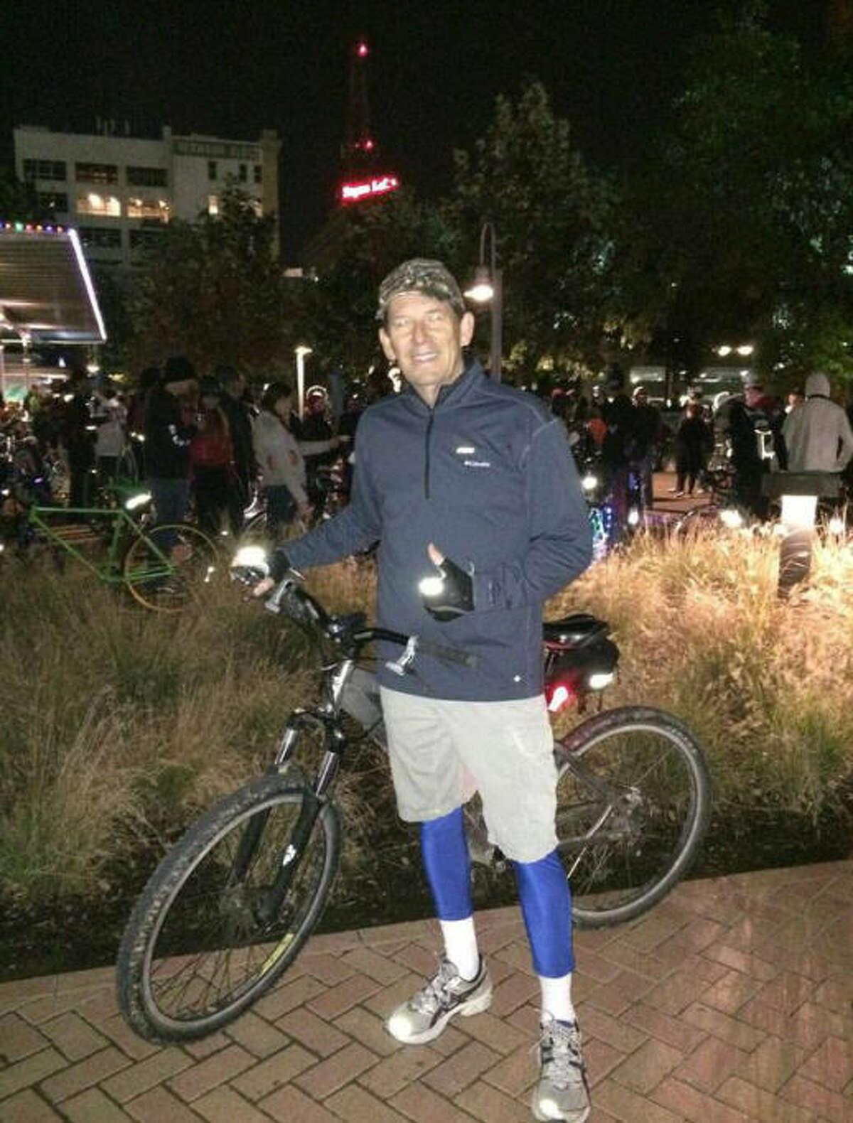 Richard Houser on recent Critical Mass Houston ride (Courtesy of Anthony Simpson)