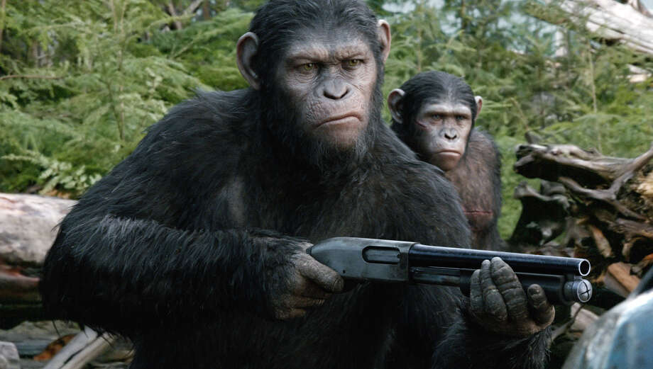 "2014: ""Dawn of the Planet of the Apes"" promises all kinds of monkey mayhem and ape vengeance. Photo: David James, Associated Press / 20th Century Fox"