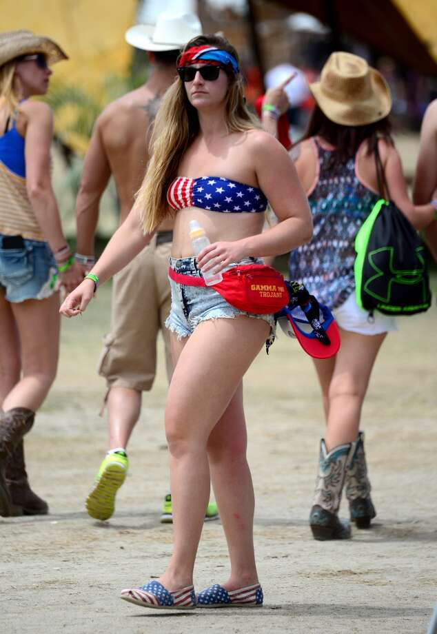 We really want to know what the baby bottle is for. Photo: Frazer Harrison, Getty Images For Stagecoach