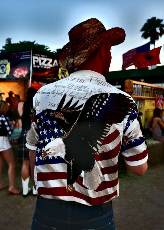 If you're not sure whether you are truly American, ask yourself: Is there a shirt with an eagle on it in my closet? Photo: Frazer Harrison, Getty Images For Stagecoach