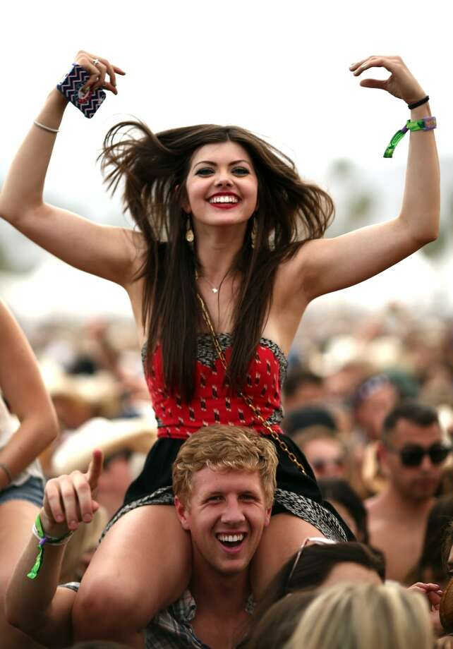 We actually quite like this dress. We just don't think you should climb on top of a dude's shoulders while wearing it. Photo: Christopher Polk, Getty Images For Stagecoach