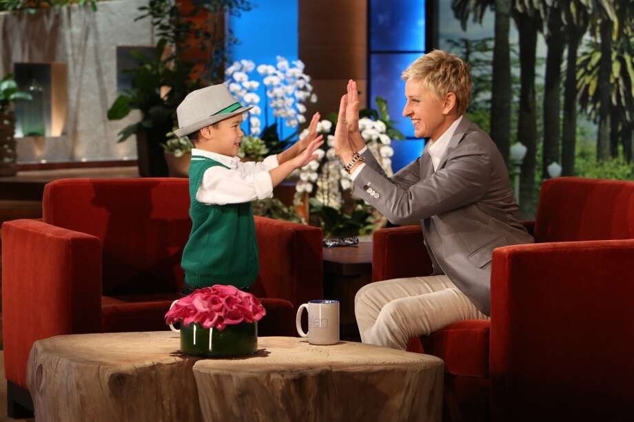 Kai Langer of The Woodlands on 'The Ellen Show' Monday, April 28. Photo: Michael Rozman/ Warner Bros.