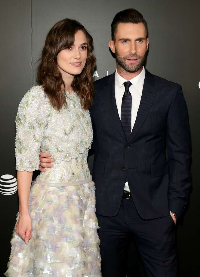 "Actress Keira Knightley (L) and musician Adam Levine attend the ""Begin Again"" Closing Night Premiere during the 2014 Tribeca Film Festival at BMCC Tribeca PAC on April 26, 2014 in New York City. Photo: Neilson Barnard, Getty Images For The 2014 Tribeca Film Festival"