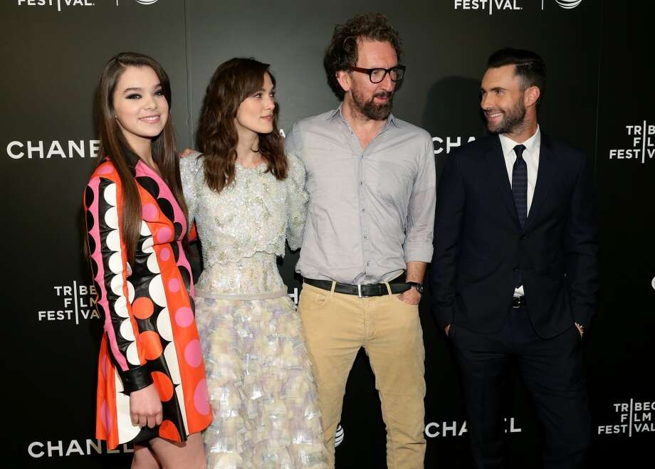 "(L-R) Actors Hailee Steinfeld, Keira Knightley, director John Carney, and musician Adam Levine attend the ""Begin Again"" Closing Night Premiere during the 2014 Tribeca Film Festival at BMCC Tribeca PAC on April 26, 2014 in New York City. Photo: Neilson Barnard, Getty Images For The 2014 Tribeca Film Festival"