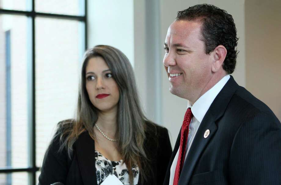 Republican Rep. Vance McAllister and his wife, Kelly, check in at Monroe Regional Airport on their way to Washington, in Monroe, La., on Monday. Photo: Emerald Mcintyre, MBR / The News-Star