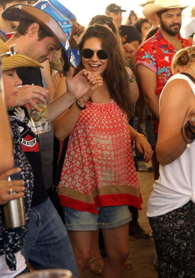 Actress Mila Kunis seen on day 2 of 2014 Stagecoach: California's Country Music Festival at the Empire Polo Club on April 26, 2014 in Indio, California. Photo: Karl Walter, Getty Images For Stagecoach