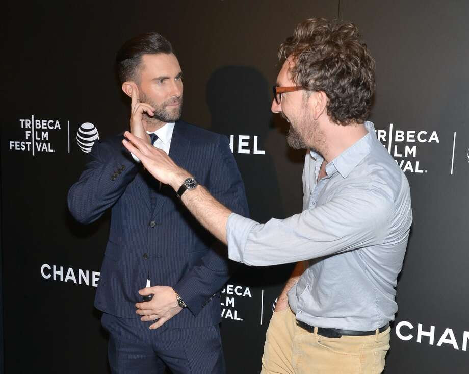 "Actor Adam Levine and director John Carney attend the premiere of ""Begin Again"" during the Tribeca Film Festival on Saturday, April 26, 2014, in New York. Photo: Evan Agostini, Associated Press"