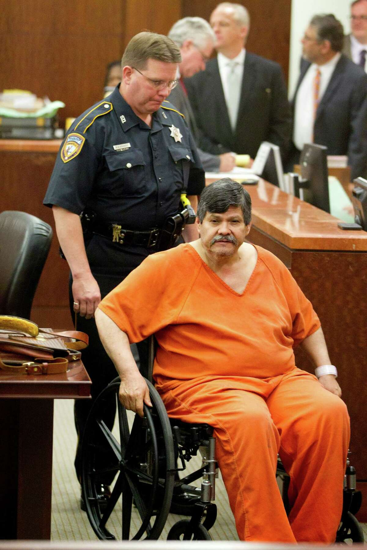 Guillermo Correa, 56, who said he has lived in the United States for 36 years, used a translator to address the judge in court on Monday.