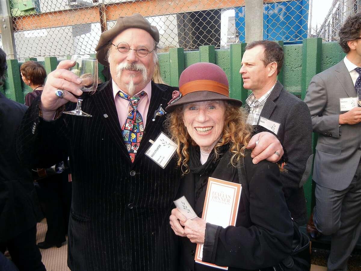 North Beach metal artist Dan Macchiarini and his wife, actress Joan Mankin, at NBC's Italian Dinner Celebration. April 2014. By Catherine Bigelow.