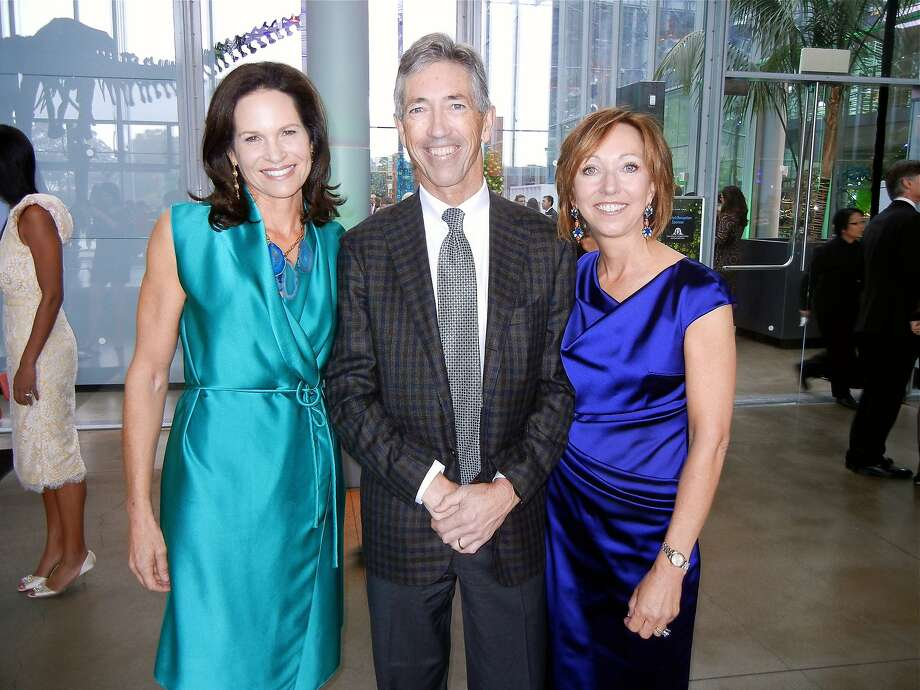 California Academy of Sciences trustee Randi Fisher  with gala co-chairs Matthew and Janice Barger. Photo: Catherine Bigelow, Special To The Chronicle