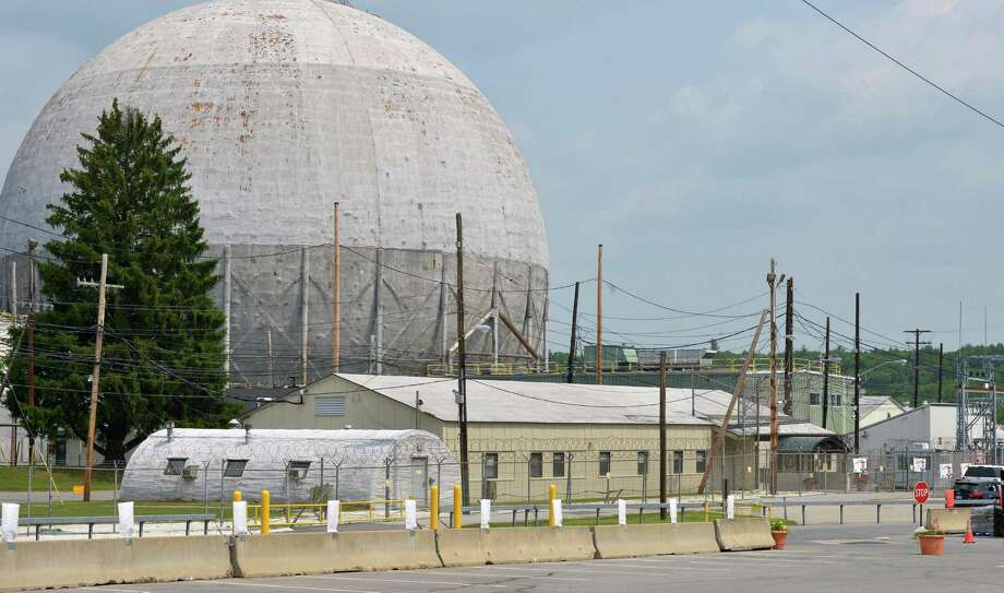 """View of Knolls Atomic Power Laboratory Tuesday May 29, 2012,  in West Milton. The D1G """"ball"""", pictured, was a prototype for the former guided missile cruiser  Bainbridge. (John Carl D'Annibale / Times Union archive) Photo: John Carl D'Annibale / 00017693A"""