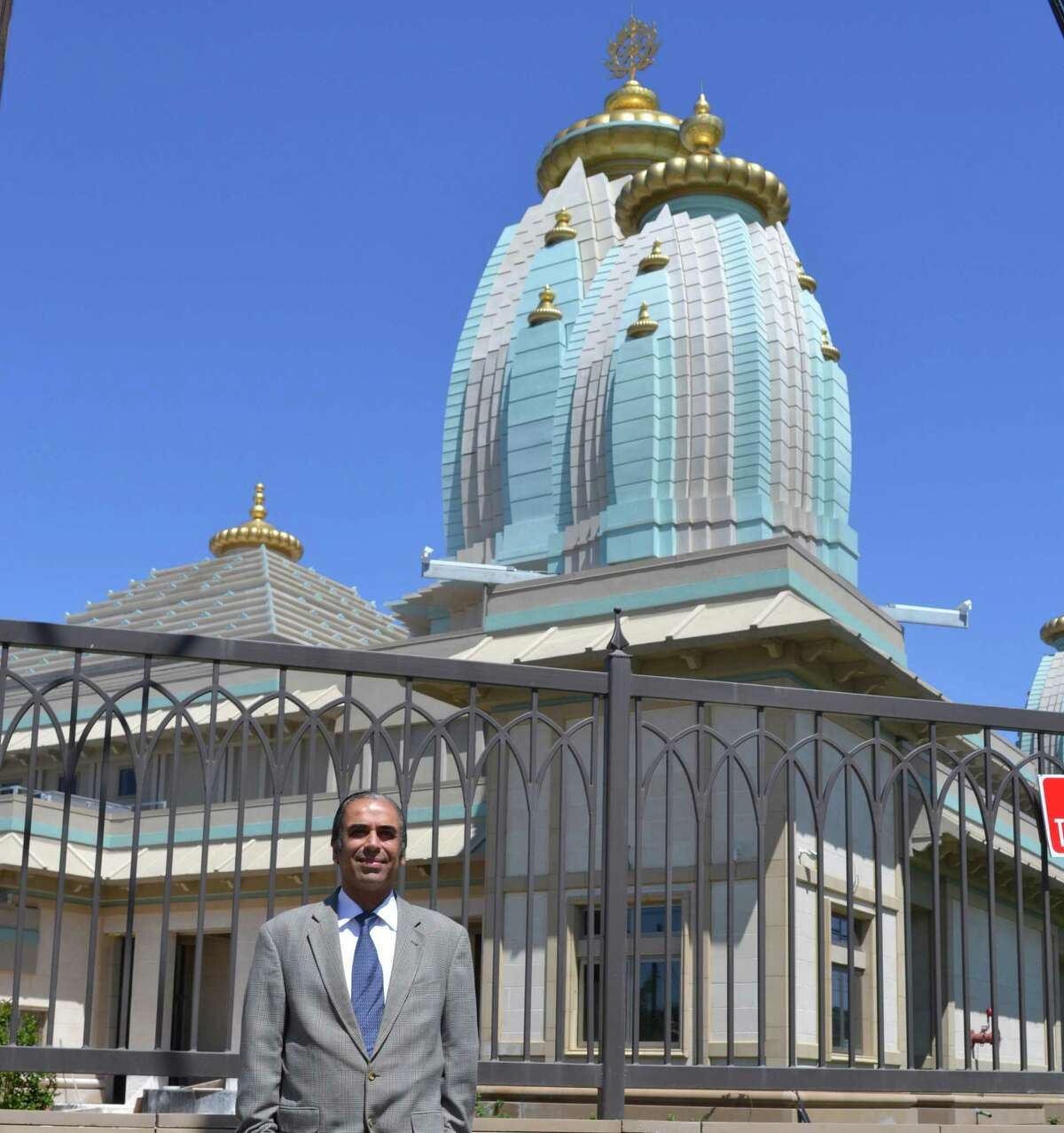 Dr. Sanjay Khanduja, nephew of Dr. Rakesh Kumar Dhingra and the adminis- trator of his estate, recently visted the site of a New Temple built with a $20 million donation from his uncle's estate.