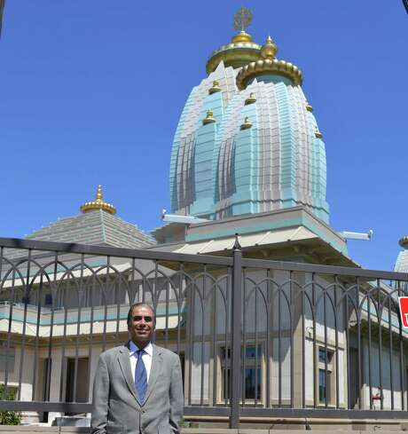 Dr. Sanjay Khanduja, nephew of Dr. Rakesh Kumar Dhingra and the adminis- trator of his estate, recently visted the site of a New Temple built with a $20 million donation from his uncle's estate. Photo: Courtesy Sanjay Khanduja
