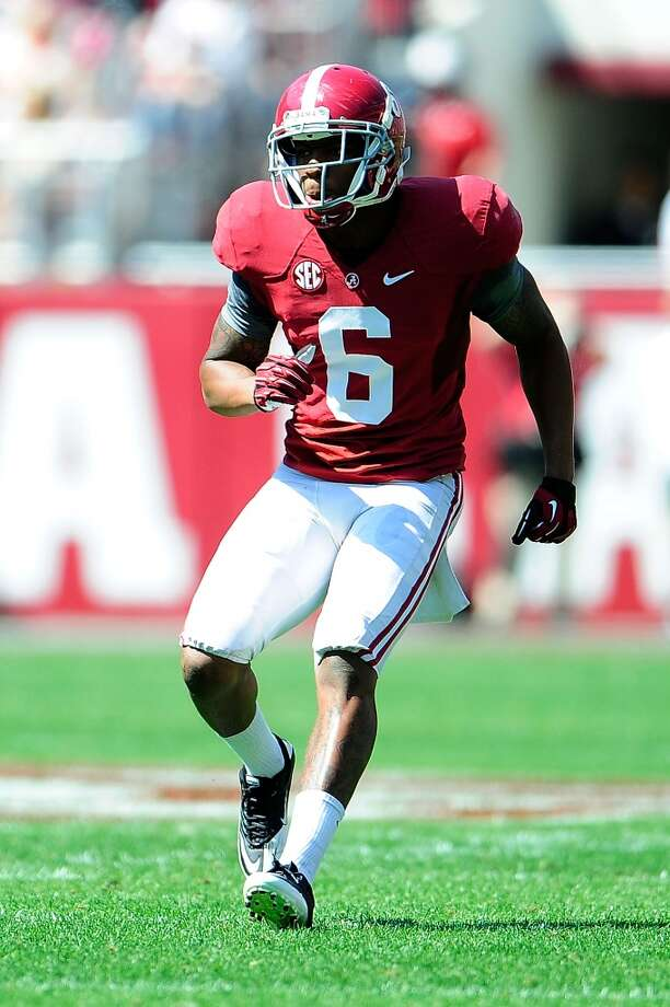 Ha Ha Clinton-Dix, FS, 6-1, 208, 4.58, Alabama   One of the best players on an excellent college team. He's got a lot of range to go with superb ball skills. Good speed and hands. Can come up and make the hard hit but can lay back and wait and break on the ball. Should go in the top half of the first round. Photo: Stacy Revere, Getty Images