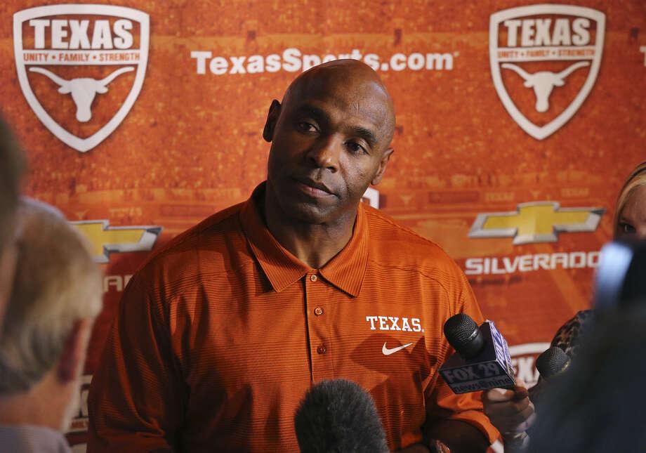 UT football coach Charlie Strong says his team still has a long way to go. Photo: Edward A. Ornelas / San Antonio Express-News / © 2014 San Antonio Express-News