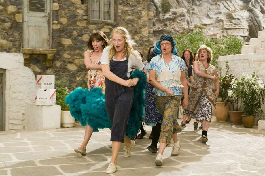 Mamma Mia!	 -- don't even think of watching this except on an airplane. Photo: Peter Mountain, Universal Pictures