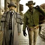 Christoph Waltz and Django in 'Django Unchained.' If you haven't seen it yet, a plane would be good place to watch it.