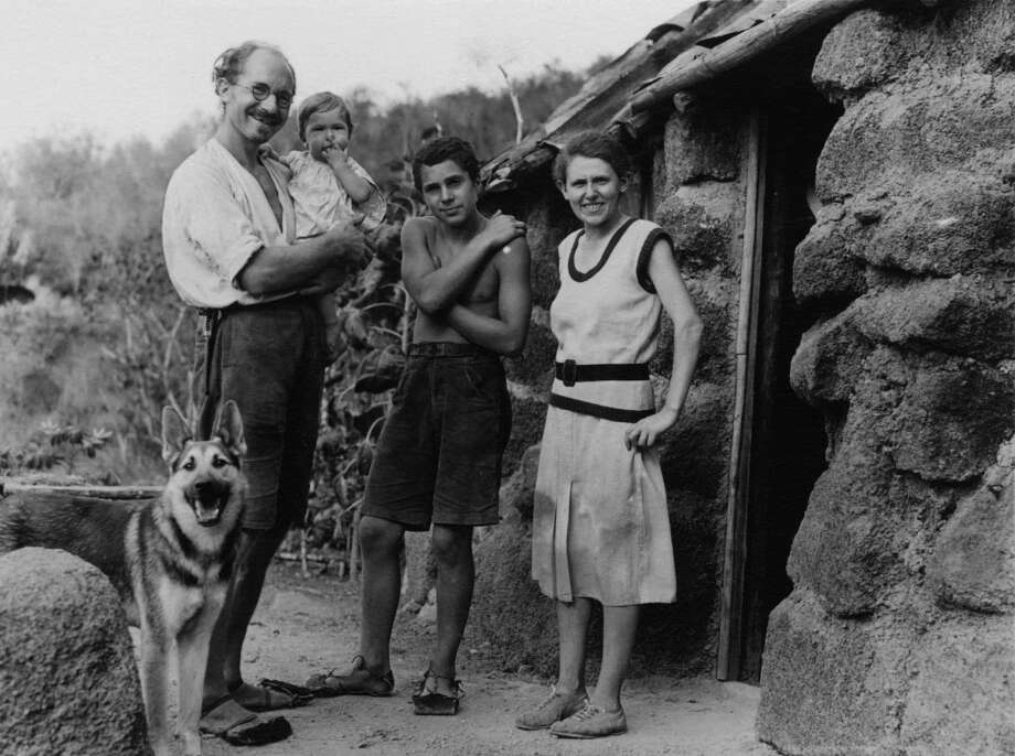 Heinz Wittmer with his wife Margret and their two children in THE GALAPAGOS AFFAIR: SATAN CAME TO EDEN. A film by Dayna Goldfine & Dan Geller.  A great story -- you just fall into it and two go by.  Perfect for eating up time on a plane. Photo: Allan Hancock / USC Libraries Sp, Zeitgeist Films