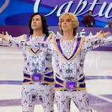 Will Ferrell as Chazz Michael Michaels and Jon Heder as Jimmy MacElroy in 'Blades of Glory.' Kinda dumb on the ground, but delightful in the air.
