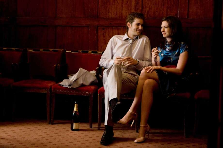 Jim Sturgess (left) and Anne Hathaway (right) star as Dexter and Emma in the romance ONE DAY, from Lone Scherfig.  An engrossing romance. Photo: Giles Keyte, Focus Features
