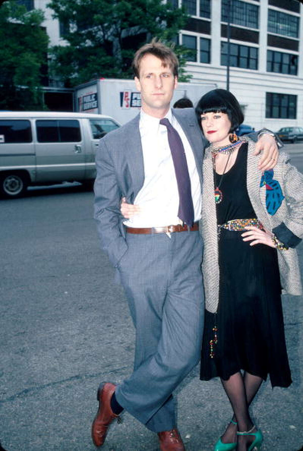 Actors Jeff Daniels and Melanie Griffith shooting their film 'Something Wild.' A welcome blast from the 1980s.