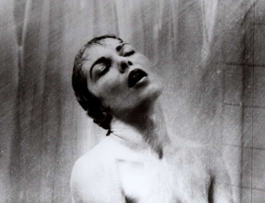 In this 1960 file photo, actress Janet Leigh appears as Marion Crane in the shower scene in Alfred Hitchcock's 1960 classic thriller. Photo: Associated Press