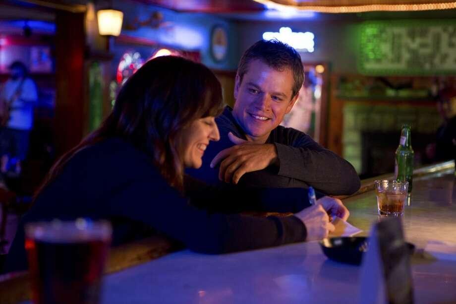Rosemarie DeWitt and Matt Damon during a scene in the film 'Promised Land,' a good environmental thriller. Photo: SCOTT GREEN, New York Times