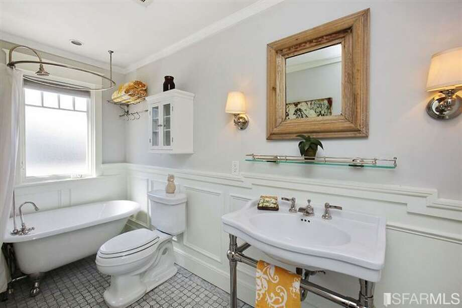 The first-floor master bath Photo: MLS