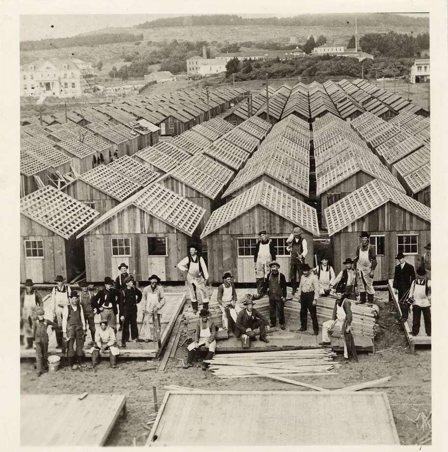 Earthquake refugee shacks in Precita Park in 1906. Photo: C, Courtesy Of San Francisco History Center
