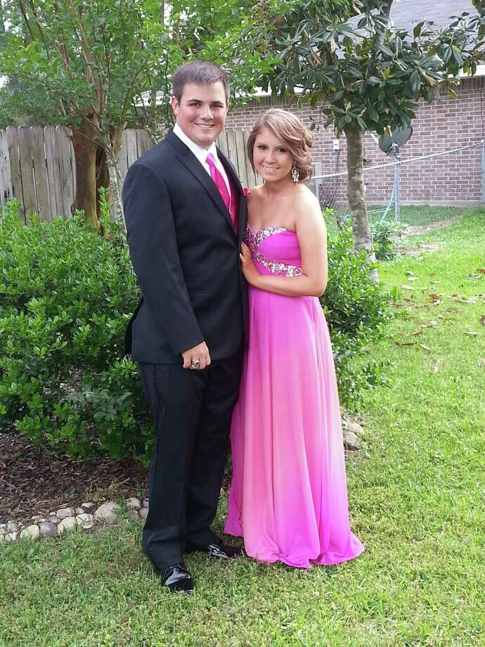 Josh Wellons and Tannah Husband from Lumberton High School going to Josh's Senior Prom.