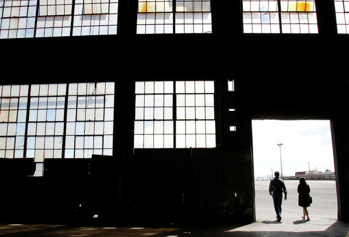 Developer Forest City Enterprises plans to build office space, some housing and a park on the huge asphalt areas surrounding building 12 at Pier 70.