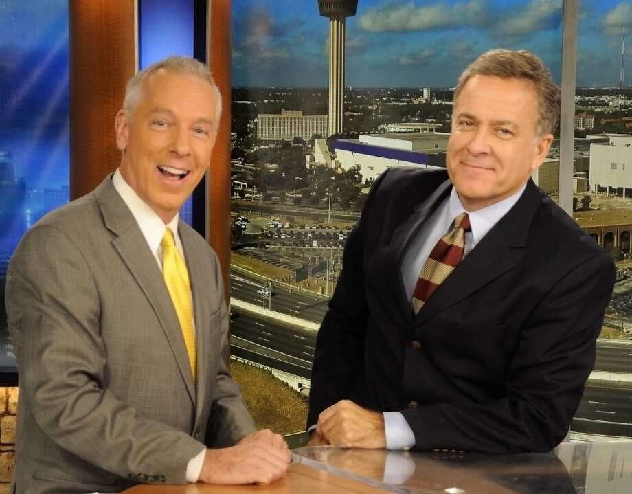 John Gerard and Randy Beamer entertained viewers with their on-air hijinks. Photo: Courtesy
