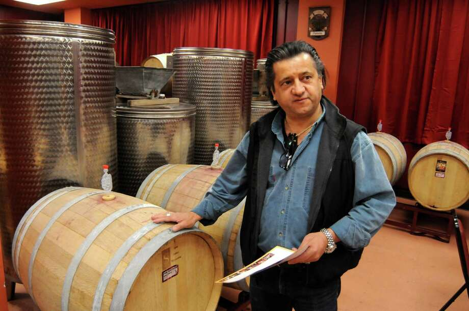 Giovanni Petretta open the Shelter Rock Winery on Shelter Rock Rd. last fall. The winery is a wine club that, for a price, allows members to create their own barrel of wine. Petretta who was literally born in a vineyard in Italy has a passion for passing on the Italian tradition of wine making.  Monday, April 28, 2014. Photo: Lisa Weir / The News-Times Freelance