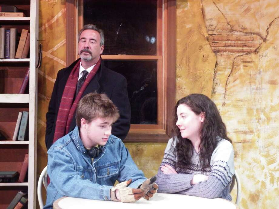 "Bob Filpovich, Tyler Giggi and Alexandra Burke will perform in the Town Players of New Canaan's production of ""Skylight"" opening Friday, May 2, at the Powerhouse Theatre in Waveny Park. Photo: Contributed Photo, Contributed / New Canaan News"
