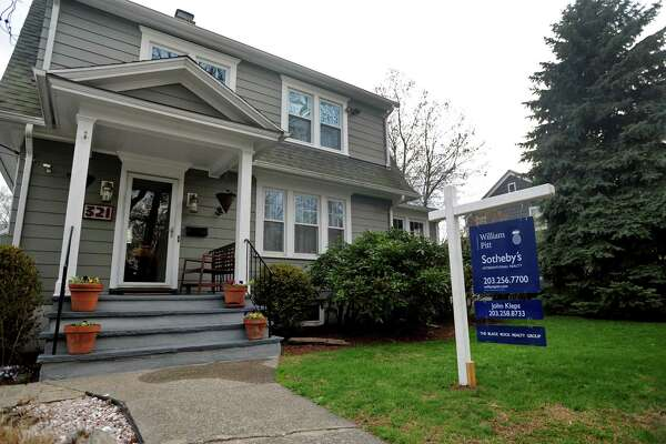 A house for sale at 321 Courtland Ave., in the Black Rock section of Bridgeport, Conn. on Monday, April 28, 2014.
