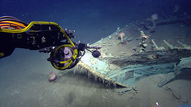 Scenes from the exploration of a shipwreck in the Gulf of Mexico. Photo: Texas State University Photo
