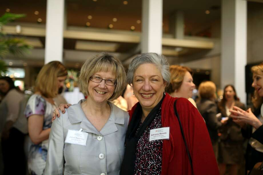 Janet Kearney with Adriana Boretti at the Women's Energy Network Charity luncheon, April 17, 2014. Photo: Quy Tran