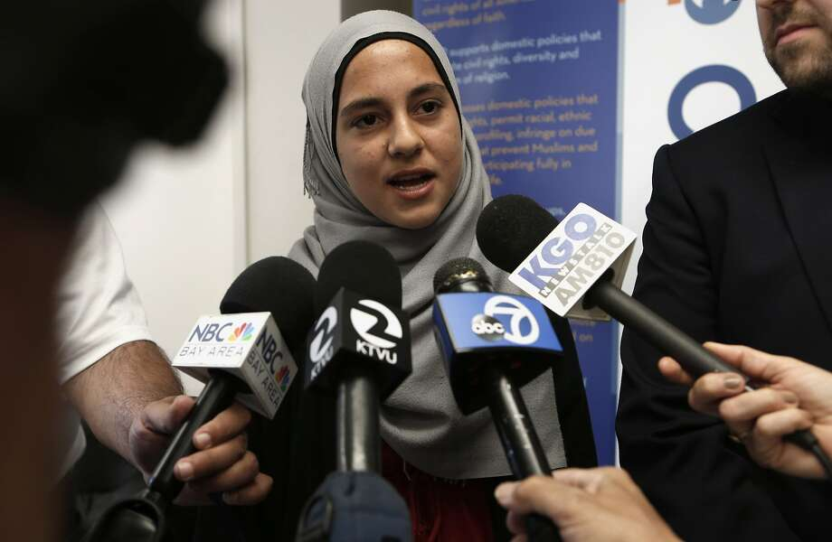 Noorah Abdo says she was prohibited from riding go-karts at a Livermore park because of the head scarf she wears as a Muslim. Photo: Michael Macor, The Chronicle