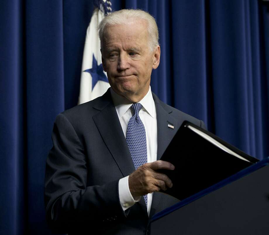 """Colleges and universities can no longer turn a blind eye,"" said Vice President Joe Biden in announcing the results of the task force's work. Photo: Associated Press"