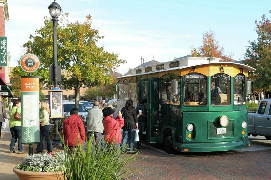 Boosting trolley service in The Woodlands is a key component of the proposed plans for a transit center. Photo: Courtesy / Ted Washington