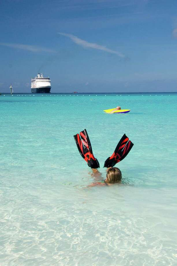 Top Ports of CallAnd the No. 1 spot for cruise ship vacations? The Caribbean, of course! At least 37 percent of cruise ship trips take place in this tropical paradise.Above: A swimmer offers a two water fin salute in Half Moon Cay, Bahamas. The Holland America cruise ship MS Veendam can be seen in the background.Source:StatisticBrain Photo: Unknown, Getty Images / © 2006 David Smith  www.imagebyinterface.com +1-604-922-9300