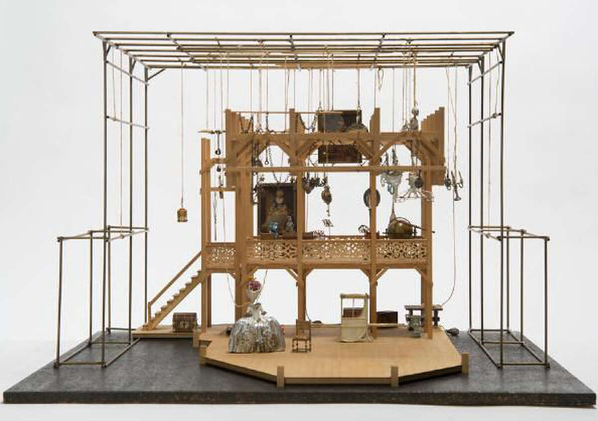 """American set designer Tony Straiges made this maquette for a 1979 production of """"The Beggar's Opera."""""""