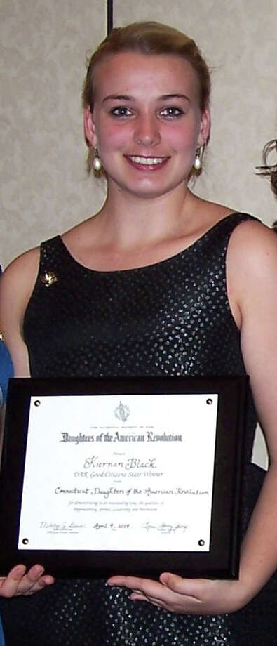 Kiernan Black, a Lauralton Hall senior who lives in Fairfield, was presented the statewide Good Citizen Award by the Daughters of the American Revolution. Photo: Fairfield Citizen/Contributed / Fairfield Citizen