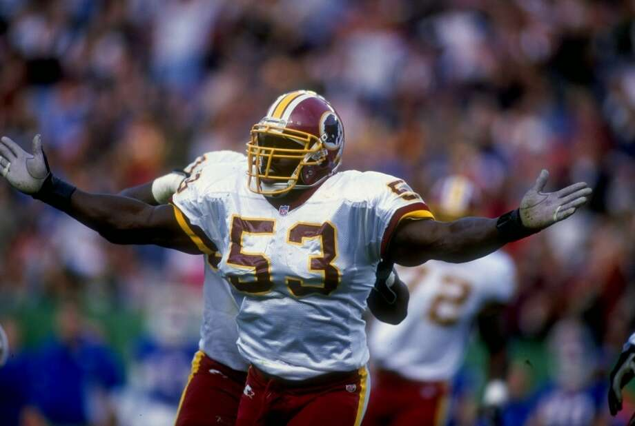Pick No. 208 | 1990 | Buffalo BillsMarvcus Patton | Linebacker | UCLAPatton never made a Pro Bowl in his 13-year career, but played at a very high level for over a decade. Perhaps his best season came in 1997, when he racked up 135 tackles and 4.5 sacks for the Washington Redskins. He started 163 games with Buffalo, Washington and Kansas City. Photo: Al Bello, Getty Images
